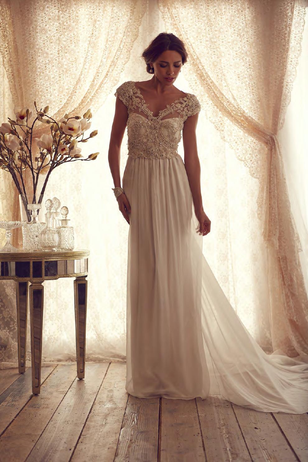 Aliexpress.com : Buy Cap Sleeved Vintage Ivory Lace Wedding Dress ...