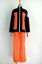 Uzumaki Naruto Cosplay Costume Hallween Clothes Shirt+Pants+Cloak