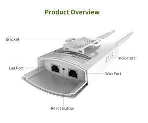 Image 3 - طويل المدى في الهواء الطلق راوتر لاسلكي 300Mbps اللاسلكية واي فاي مكرر/AP/موزع إنترنت واي فاي CPE 2.4G هوائي خارجي مزدوج 48 فولت POE محول
