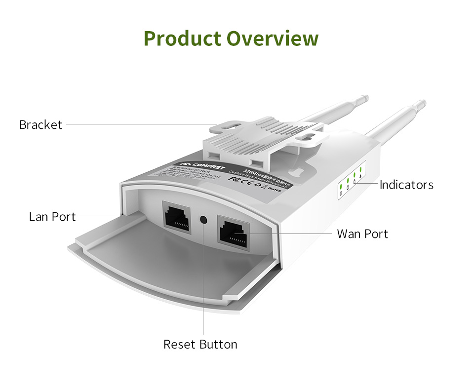 Image 3 - long Range Outdoor Wireless Router 300Mbps Wireless Wifi Repeater /AP/WIFI Router CPE 2.4G Dual External Antenna 48V POE adapter-in Modem-Router Combos from Computer & Office
