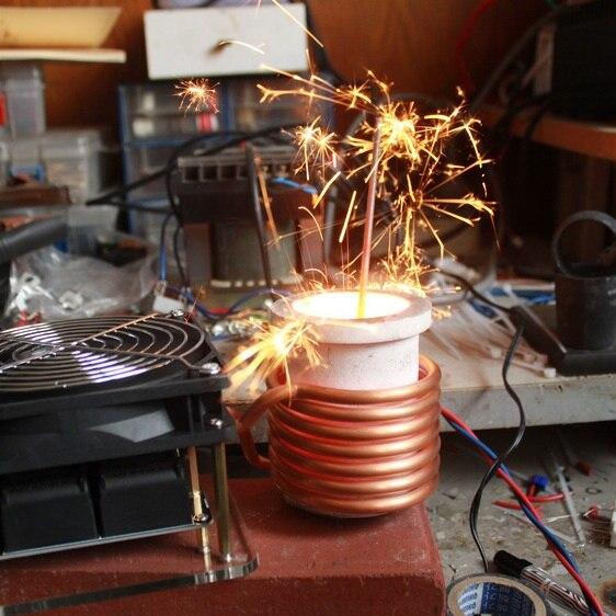 Fondu en métal zvs chauffage par induction à haute fréquence machine de chauffage doivent apporter leur propre puissance diy brain-formation jouet