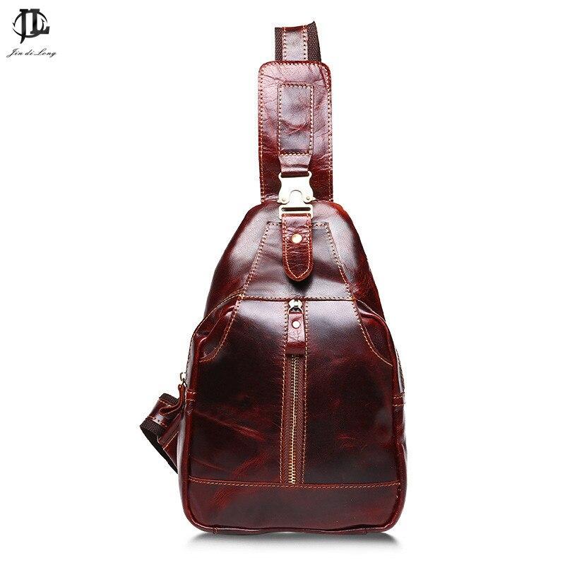 Новый модный бренд Стиль Дизайн Ретро Crazy Horse Пояса из натуральной кожи  Для мужчин слинг груди мешок пакет Crossbody Сумки на плечо дорожная сумк. 1591993a35d