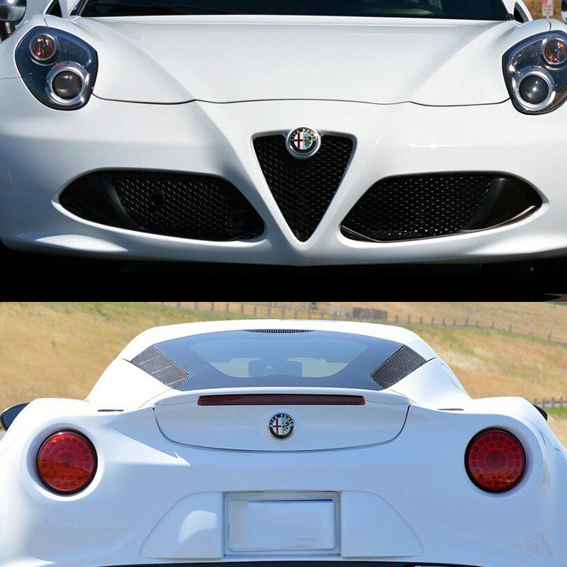 Automobiles & Motorcycles Car Stickers Automobile,2pcs For Alfa Romeo Car Badge Stickers 74mm Front Hood Emblem Steering Wheel Sticker Easy And Simple To Handle