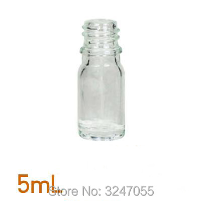 5ML 20pcs/lot 50pcs/lot Clear Empty Glass Cosmetic Bottles, Various Liquid Container, Cosmetic Essential Oil/Lotion/Toner Bottle 100 pcs lot of small glass vials with cork tops 1 ml tiny bottles little empty jars