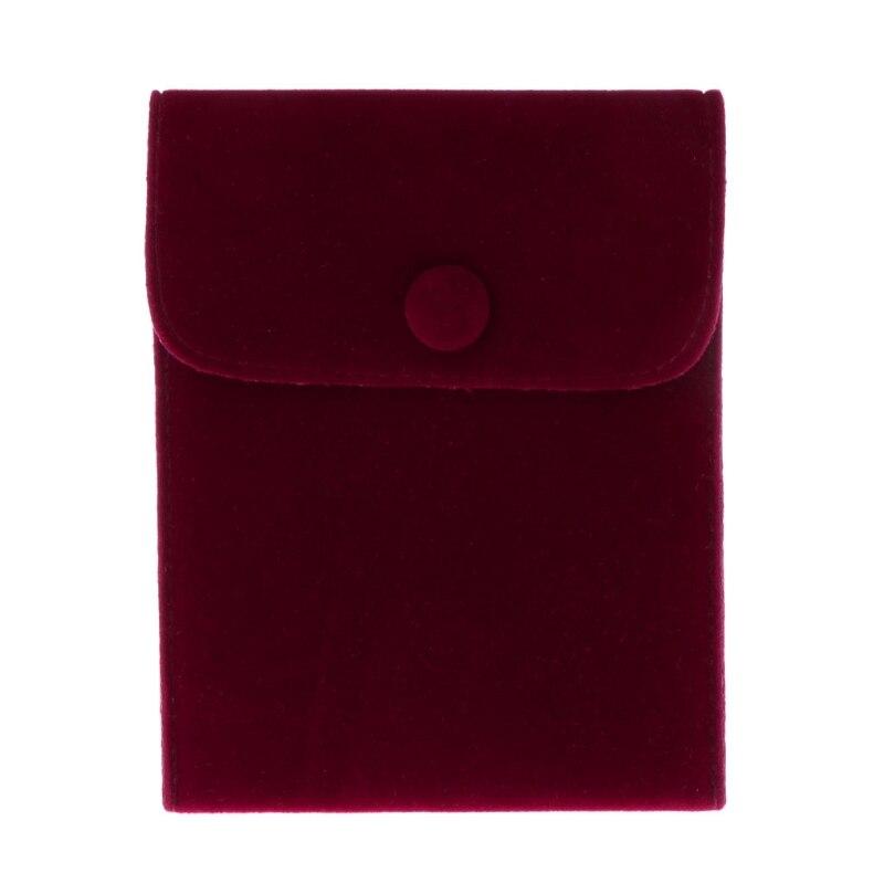 JAVRICK Jewelry Bag Storage Portable Soft Lint Velvet Flannel Bracelet Necklace Gift Bag
