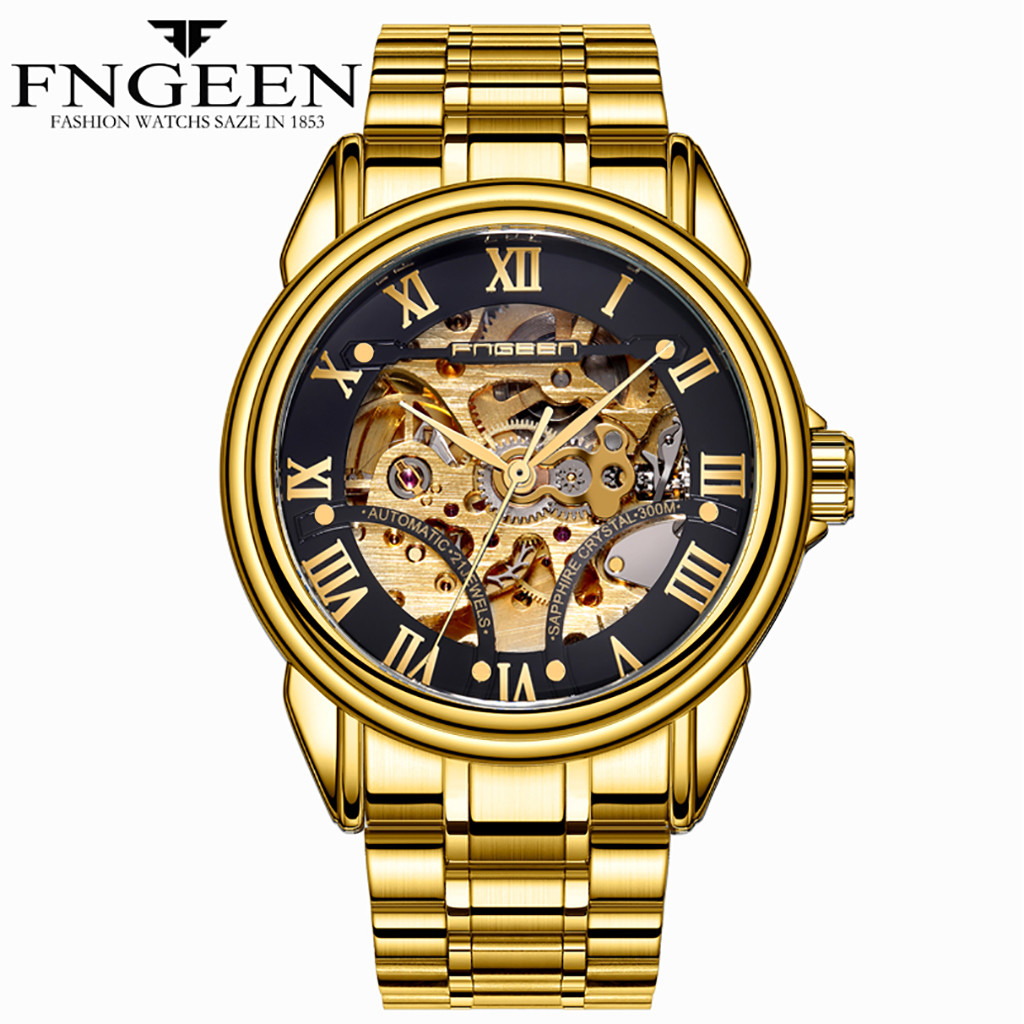 man watch 2019 FNGEEN Water Resistant Stainless Steel Watch  Automatic Mechanical skone Men Watch reloj mujer