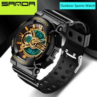2016 New Brand SANDA Watches Mens LED Digital Watch Waterproof Sport Military Good Style S Shock