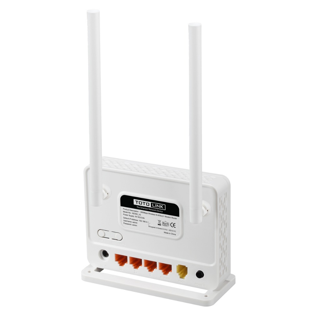 TOTOLINK ND300 Multi functional Wireless N 300Mbps ADSL 2+ Modem ...