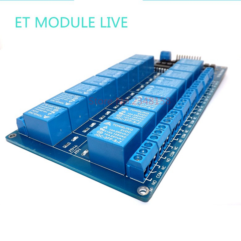 1pcs 5V 16 Channel Relay Module for arduino ARM PIC AVR DSP Electronic Relay Plate Belt optocoupler isolation ootdty 4 channel relay module with optocoupler pic avr 51 arm for arduino single chip dc 12v apr12 30