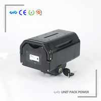 US EU Free Tax Great Quality Rechargeable 36V E Bike Seat Post Lithium Ion Battery 36V 10.4Ah With 42V 2A Charger