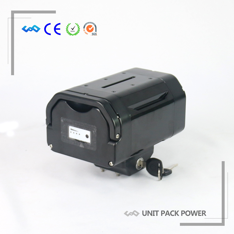 US EU Tax Free Grande Qualité Rechargeable 36 v E-Vélo Siège Post Au Lithium Ion Batterie 36 v 10.4Ah avec 42 v 2A Chargeur