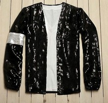 Custom Made Michael Jackson Cosplay Billie Jean kostuumaccessoires MJ handschoen / jas
