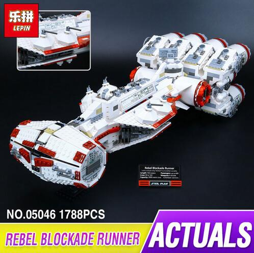 Lepin 05046 New 1788Pcs Star War Series The Tantive IV Rebel Blockade Runner Set Building Blcoks Bricks Educational Toys 10019 lepin 05046 1748pcs star war series the tantive iv rebel blockade runner set building blcoks bricks toys for children gift 10019