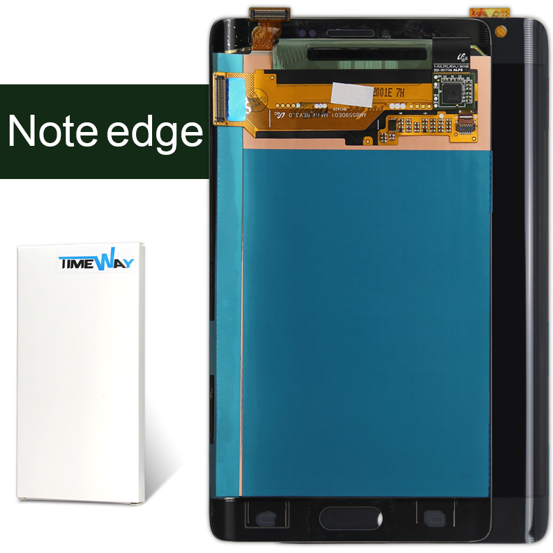 DHL 10pcs 100% Original oem Blue White LCD Display For Samsung Note 4 Edge N9150 N915F N915V version