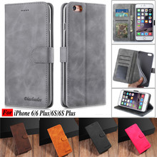 For iPhone 6s Plus Case On Hoesje iPhone6 Case Flip Magnetic Phone Case For iPhone 6 6s Plus Case Leather Vintage Wallet Cover цена и фото