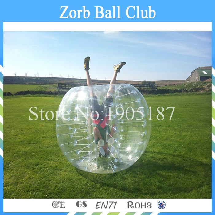 Free shipping Discount For 1.5m 100% Pure TPU Bumper bubble Soccer/Bubble Suit/Loopy Ball For Adults