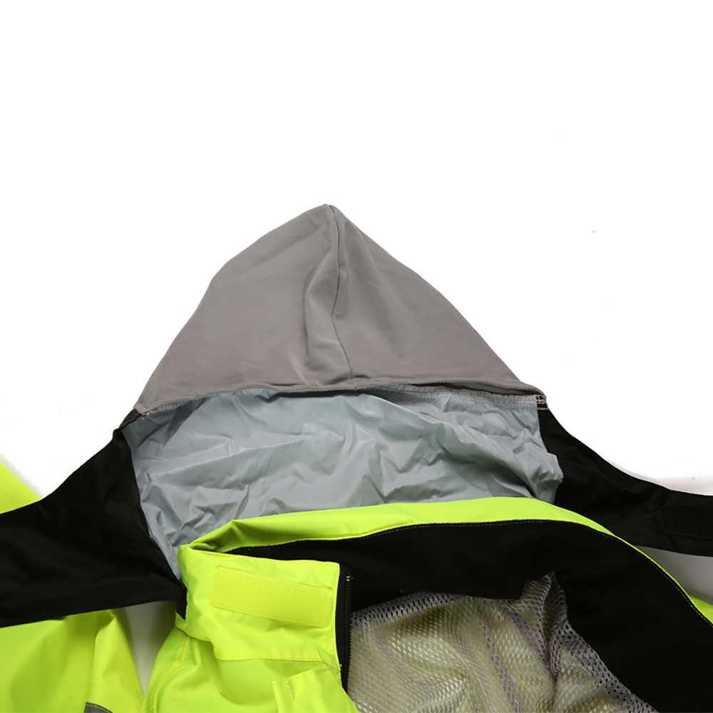 SCOYCO мотоциклетная куртка для мужчин с капюшоном для верховой езды плащ отражатель мотоциклетный дождевой Костюм мото Водонепроницаемая соединенная куртка