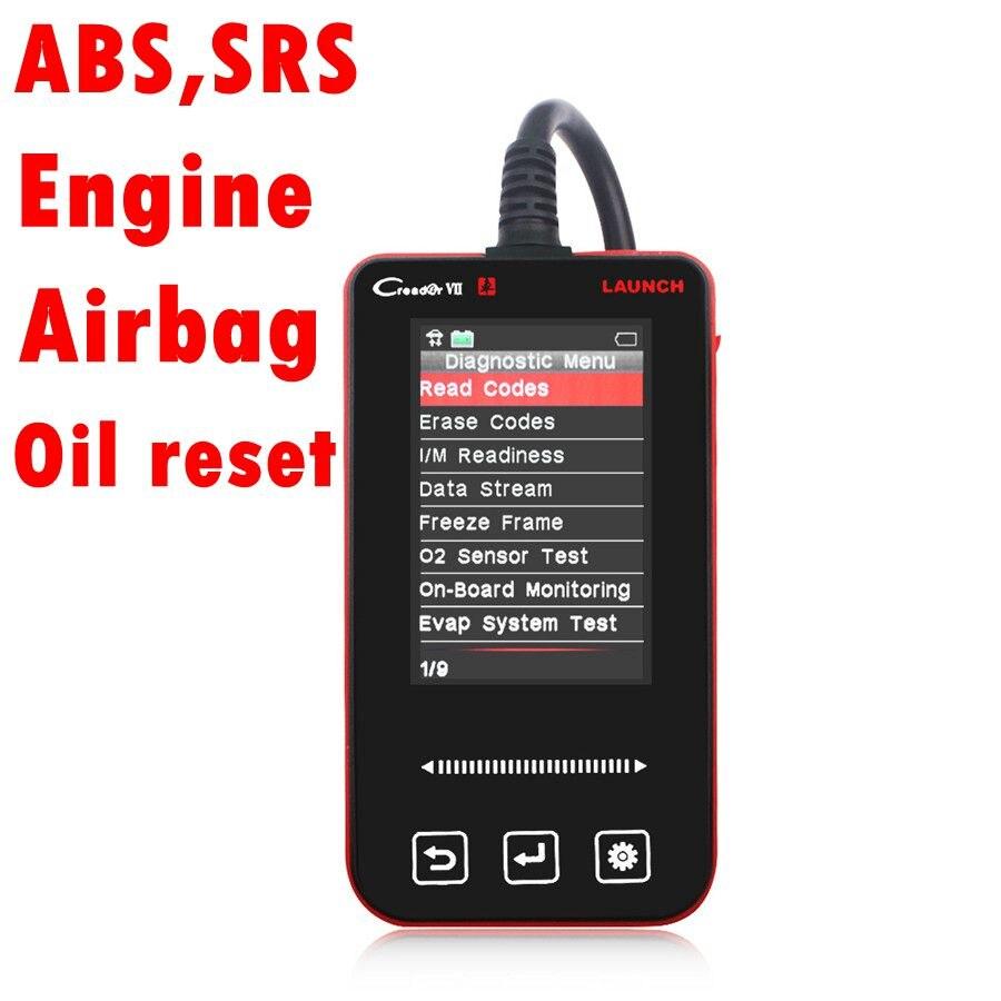 Цена за Автомобильная сканер старт Creader VII 7 OBD2 ABS SRS масла аварии подушки безопасности данных сброса OBD2 диагностический сканер для авто сканер