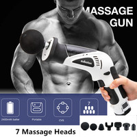 7 Heads Muscle massage gun Muscle relaxation Relieve soreness after Fitness Sports Relax Fascia Machine free shipping