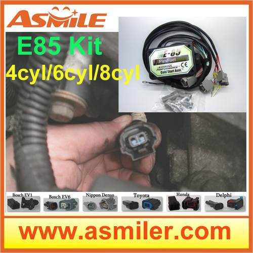 Asmile 4cyl 6cyl 8cyl kit ethanol E85 with easy installation e85 ethanol car conversion kit with 4cyl dhl ems free price from asmile