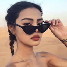 Cat Eye Sunglasses Women 2018 New Fashion Triangle Small Size Frame Eyewear Reb Blue Green Lens Sun Glasses UV400-in Women's Sunglasses from Apparel Accessories on AliExpress