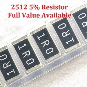 100pcs/lot SMD Chip Resistor 2512 68R/75R/82R/91R/100R 5% Resistance 68/75/82/91/100/Ohm Resistors K Free Shipping