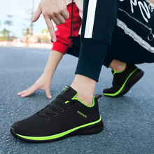 Unisex Sneakers Breathable Casual Shoes Men White Mesh Lightweight Flats 39~47 Big Size Men 2019 Spring Sneakers Red Lace Up(China)