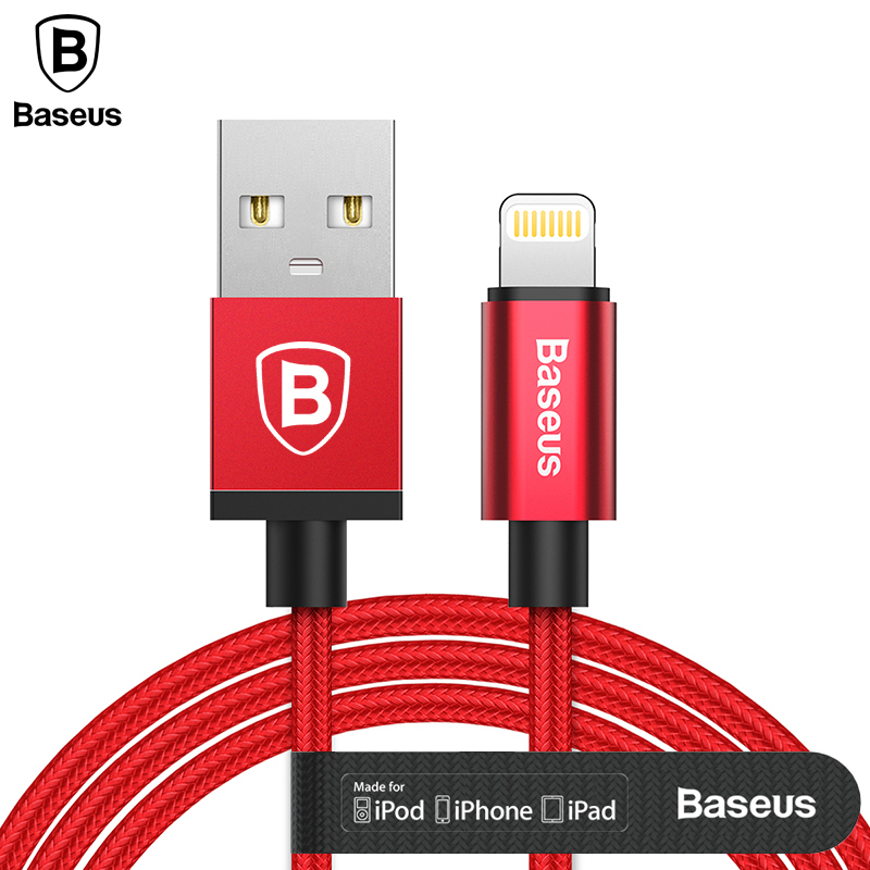 Baseus MFI USB Cable For iPhone iPad iPod USB Charger Cable For iPhone X 8 5 6 7 Plus 2.4A Fast Charging Charger Cable MFI Cable