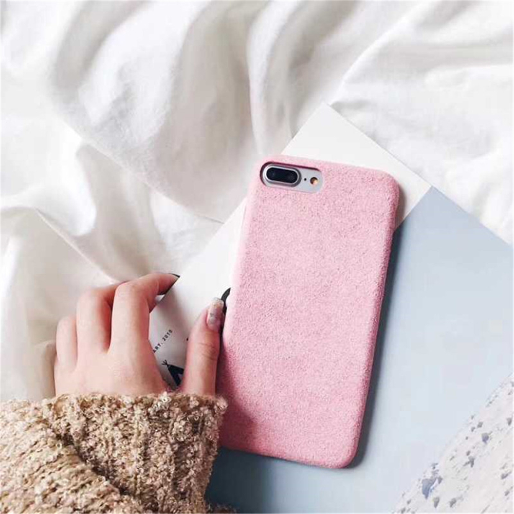 Soft Plush Phone Cases For Apple iPhone 8 7 6 6S Plus Coque For iPhone X XR XS Max Winter Warm Fur Furry Cover Shell Gift Fundas02