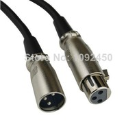 Free Shipping XLR 3Pin Mic Cable Cord Microphone Audio Male to Female Shielded 20m / 65ft