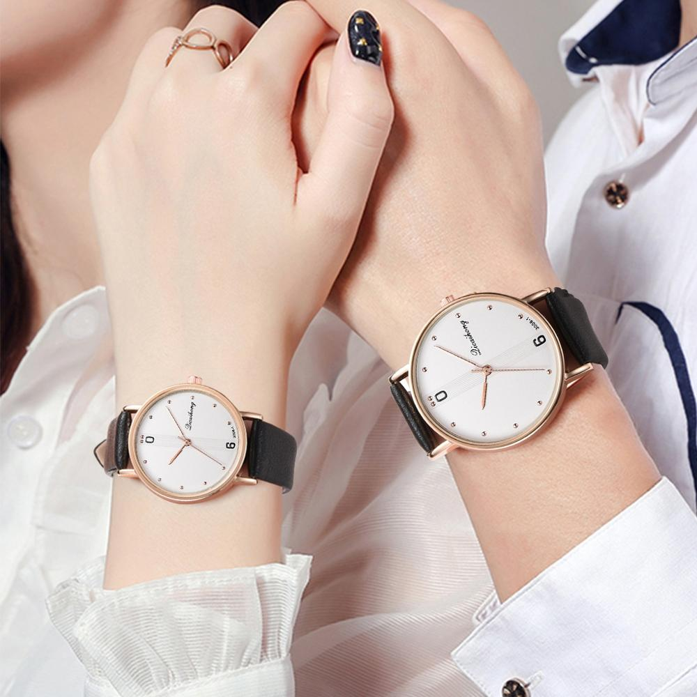 Couple Watches For Lovers Fashion Leather Couple Watches Unique Design Women Men Casual Dress Watch Reloj Pareja Hombre Y Mujer