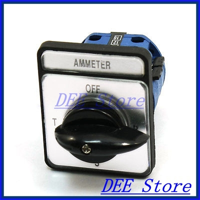 Panel Mount Rotary Cam Changeover Ammeter Switch 4 Positions CA10-A048 ac 500v 16a panel mount 4 positions rotary cam changeover switch