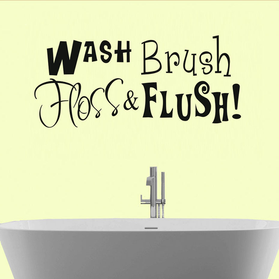 Wash Brush Hoss Flush Marked Word Wall Sticker For Kitchen Wall ...