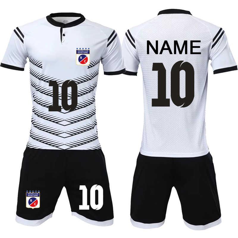 3572c73df personality custom Men 2018 Soccer Jerseys Set Uniforms Football clothes Kit  Cheap Breathable Football Short Sleeve