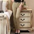 Moda de nova Novidade Estilos Primavera Queda Mulheres de Negócios OL Formais Calças Femininas Skinny Leggings Pants Capris Calças Plus Size 4XL