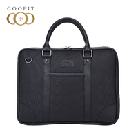 Coofit Business Briefcase For Men Fashion Oxford Fabric 13 Inch Laptop Bag Tablet Briefcase Messenger Bag With Leather Handle