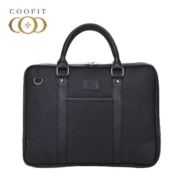 Coofit Business Briefcase For Men Fashion Oxford Fabric 13-Inch Laptop Bag  Tablet Briefcase Messenger 4f93d34452