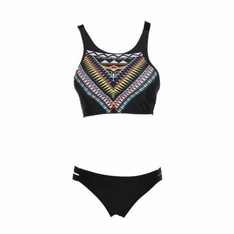 ビキニセット夏のビーチの水着スリムプリント水着水着セクシーなビキニツーピース水着ビキニセット