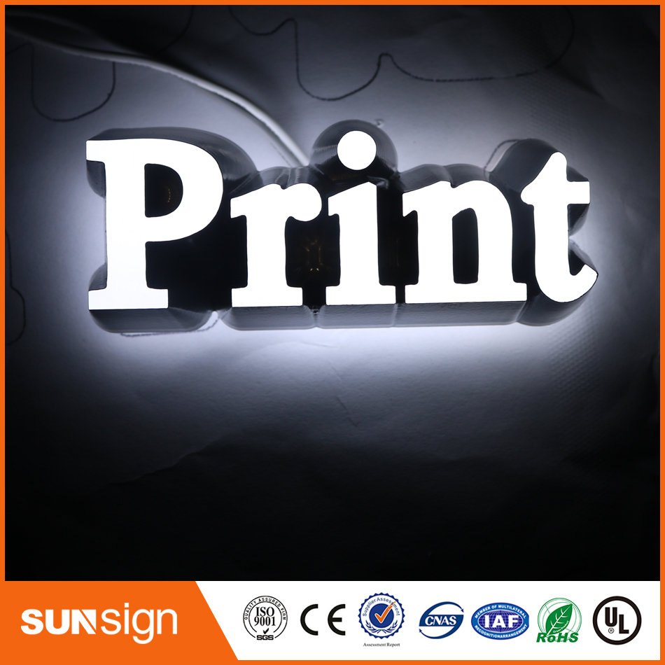 3D Lighting Acrylic Mini LED Channel Letter Lights Sign / Bending Machine Making Acrylic Face Lighting Letters