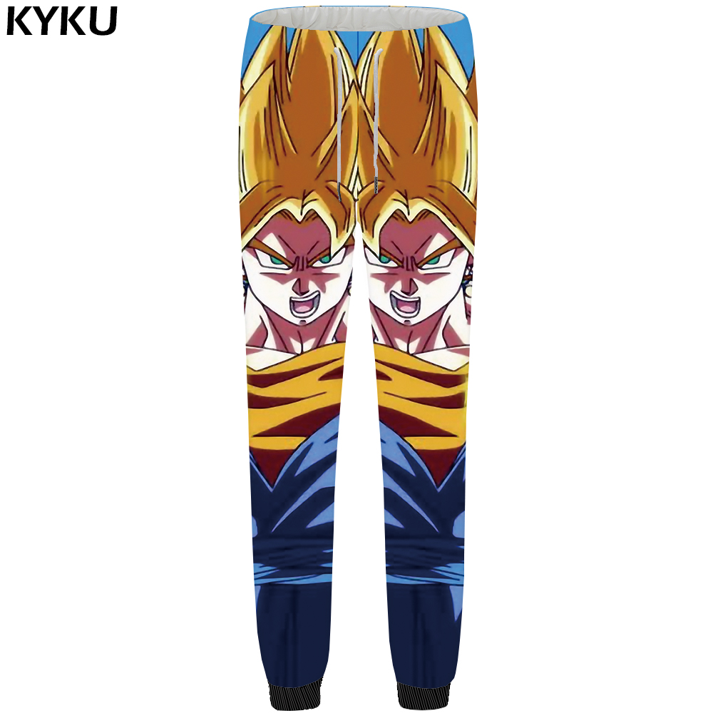 KYKU Brand Dragon Ball Pants Men Goku Sweatpants Large Size 3d Print Britches Sweat Yellow Gothic Mens Trousers 2018 New Bottoms ...