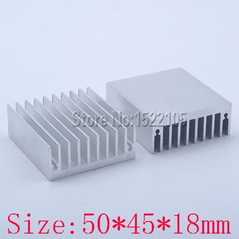 Heatsink 50x45x18 mm Aluminum heatsink heat sink radiator for Electronic Chip heat dissipation high performance aluminum heatsink radiator golden 45 x 45 x 10mm
