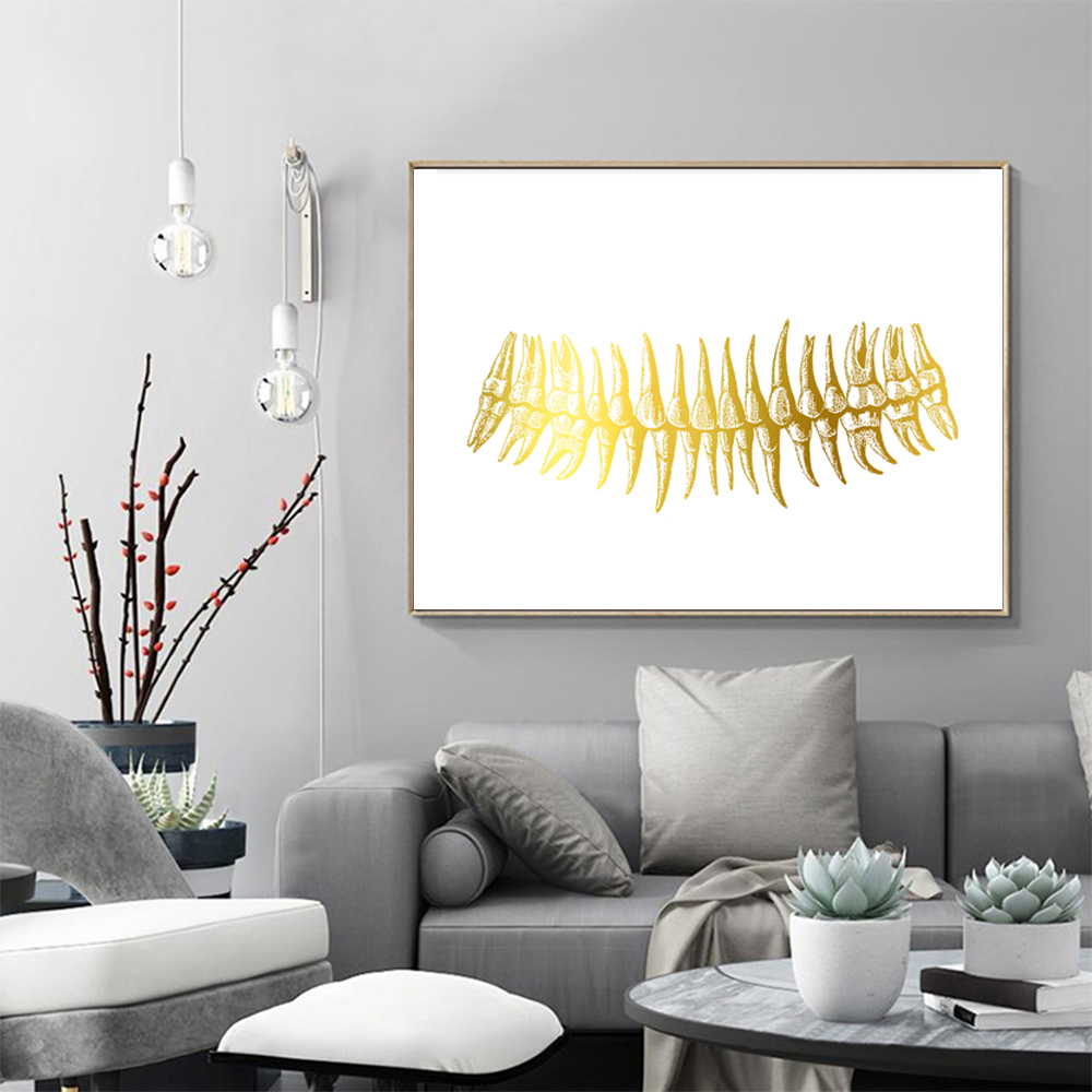 Orthodontic Chart Watercolor Print Tooth Chart Dental Clinic Office Dental Art