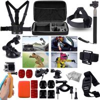 Accessories Set 30in1 Bag Chest Strap Tripod For Gopro Hero 3 3 4 SJ4000 OS95