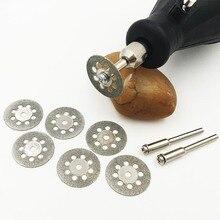 22 мм Dremel Аксессуары алмазный шлифовальный 6 шт./лот мини циркулярная пила отрезной диск Алмазный Абразивный диск Dremel роторный инструмент