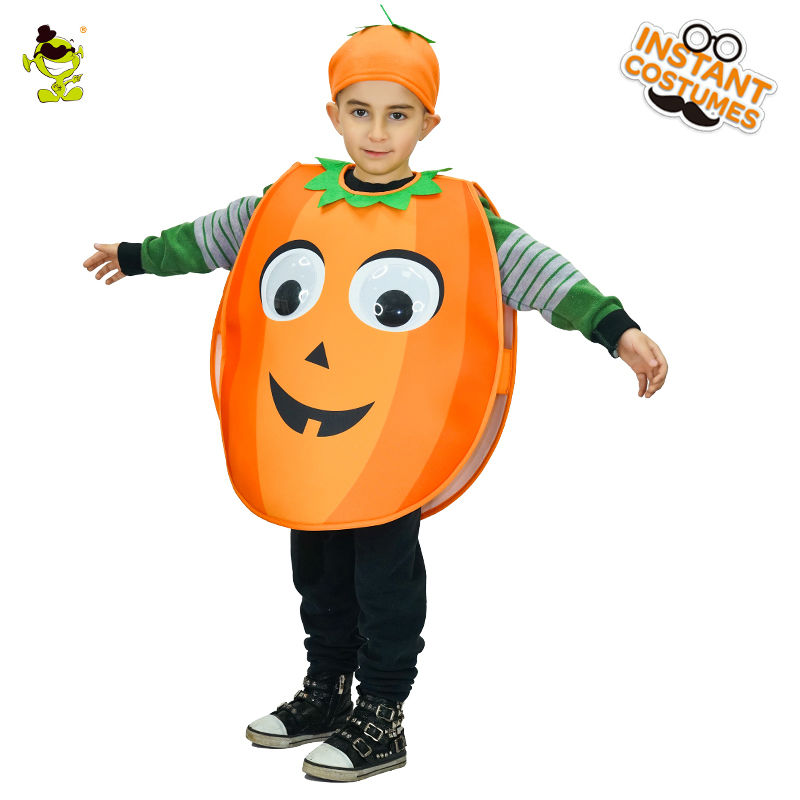 Unisex New Design cute pumpkin Costume Lovely Girls&Boys Halloween Fancy Dress Kids Cosplay Outfits Clothings For Children