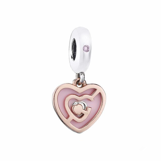 2019 Valentine's Day 925 Sterling Silver Path to Love Pendant Charms With CZ Fit Pandora Bracelet Women DIY Jewelry2019 Valentine's Day 925 Sterling Silver Path to Love Pendant Charms With CZ Fit Pandora Bracelet Women DIY Jewelry