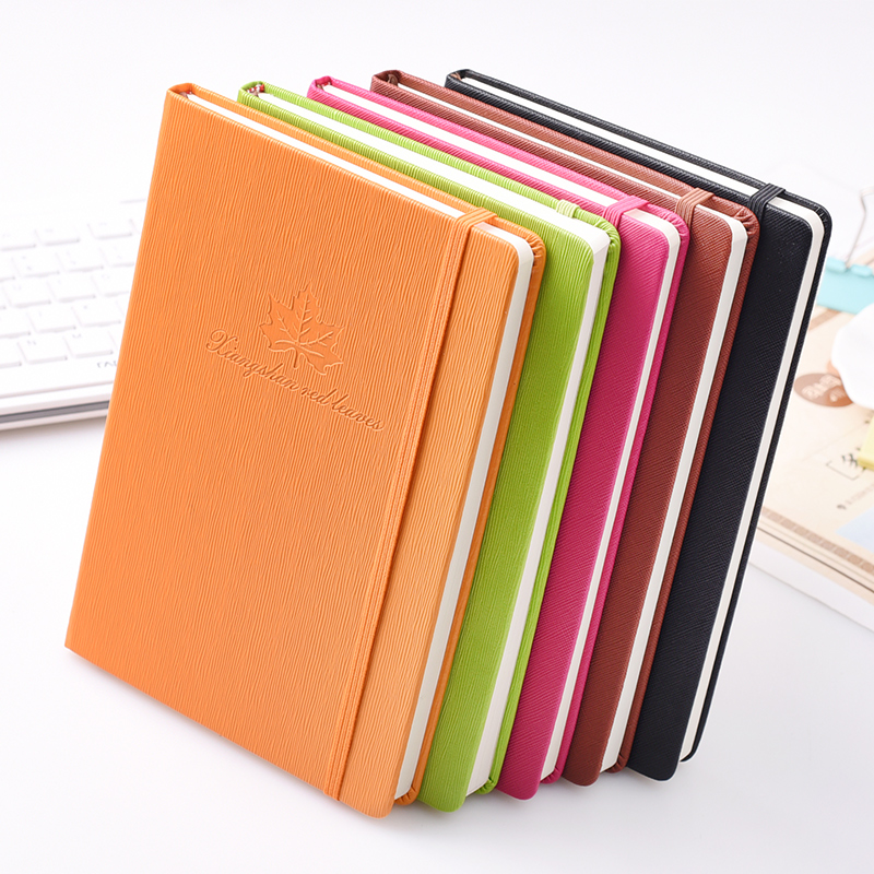 2017 A5 leathernotebook office supplies stationery business note book thick agenda journal diary planner commercial gifts 2017 недорого