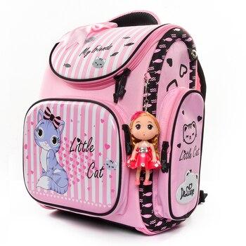 60a1b626ec17 Cocomilo бренд начальной класс 1-3 дети 3D мультфильм школьные сумки От 5  до 9 лет детский ортопедический школьный рюкзак с изображением животного .