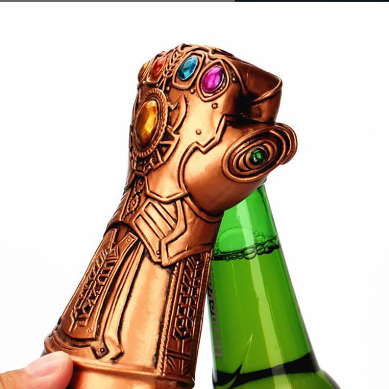 Bottle Opener Tools Infinity Thanos Gauntlet Glove Beer Bottle Opener Soda Glass Caps Remover Kitchen Tool