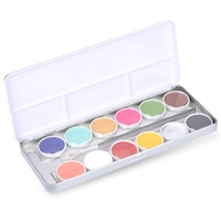 Professional 1 Set 12 Colors Flash Tattoo Face Body Paint Oil Painting Art 2017 Hot Sale